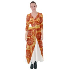 Pizza Slice Button Up Maxi Dress