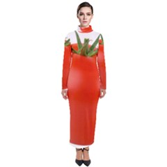 Tomato Turtleneck Maxi Dress