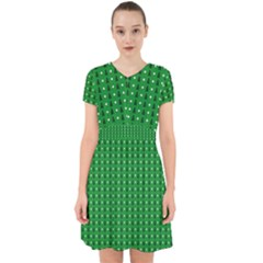 Green Christmas Tree Pattern Background Adorable In Chiffon Dress