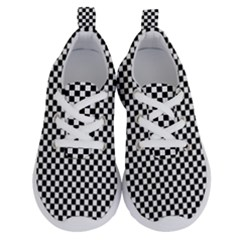 Black And White Checkerboard Background Board Checker Running Shoes