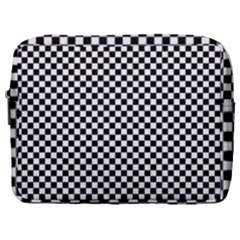 Black And White Checkerboard Background Board Checker Make Up Pouch (large)