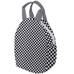 Black And White Checkerboard Background Board Checker Travel Backpacks