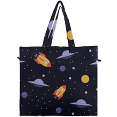 Cosmos Rockets Spaceships Ufos Canvas Travel Bag