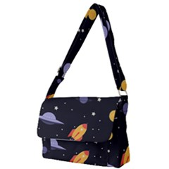 Cosmos Rockets Spaceships Ufos Full Print Messenger Bag (s)