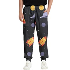 Cosmos Rockets Spaceships Ufos Men s Elastic Waist Pants