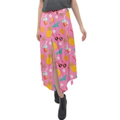 Beach Love Velour Split Maxi Skirt