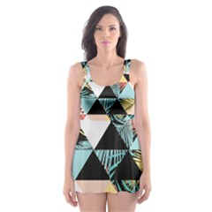 Tropical Beach Love Skater Dress Swimsuit