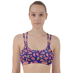 Blue Paisley Print 2 Line Them Up Sports Bra