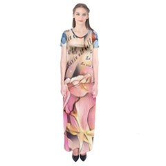 Motif Florale 96676017 10218089188116536 5855340343544774656 O Short Sleeve Maxi Dress