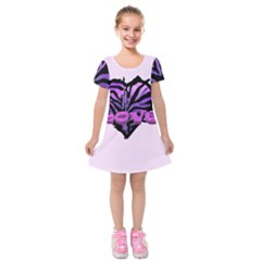 Coeur Z¨|br¨| Kids  Short Sleeve Velvet Dress by 300927