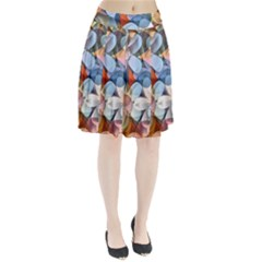Motif Florale Pleated Skirt