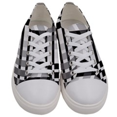 Nine Bar Monochrome Fade Squared Bend Women s Low Top Canvas Sneakers