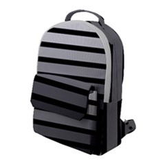 9 Bar Monochrome Fade Flap Pocket Backpack (large)