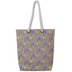 Halloween Candy Full Print Rope Handle Tote (small)