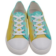 Abstract Background Beach Coast Women s Low Top Canvas Sneakers