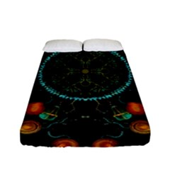 Mandala - 0006 - Floating Free Fitted Sheet (full/ Double Size) by WetdryvacsLair