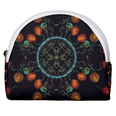 Mandala - 0006 - Floating Free Horseshoe Style Canvas Pouch by WetdryvacsLair
