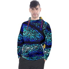 Sea-fans-diving-coral-stained-glass Men s Pullover Hoodie