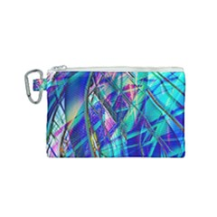 Title Wave, Blue, Crashing, Wave, Natuere, Abstact, File Img 20201219 024243 200 Canvas Cosmetic Bag (small)
