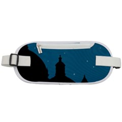 Silhouette Night Scene Cityscape Illustration Rounded Waist Pouch