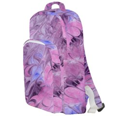 Flowing Marbling Patterns Double Compartment Backpack