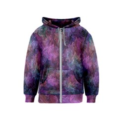Multicolored Abstract Kids  Zipper Hoodie
