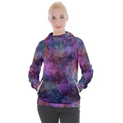 Multicolored Abstract Women s Hooded Pullover