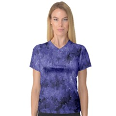 Lilac Abstract V-neck Sport Mesh Tee