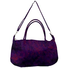 Red And Purple Abstract Removal Strap Handbag