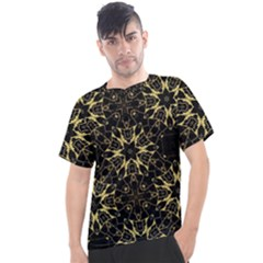Black And Gold Pattern Men s Sport Top
