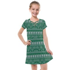 Christmas Knit Digital Kids  Cross Web Dress by Mariart