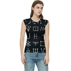 Heinrich Cornelius Agrippa Of Occult Philosophy 1651 Malachim Alphabet Collected Inverted Square Women s Raglan Cap Sleeve Tee by WetdryvacsLair