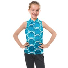 Hexagon Windows Kids  Sleeveless Polo Tee