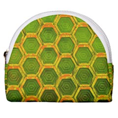 Hexagon Windows Horseshoe Style Canvas Pouch