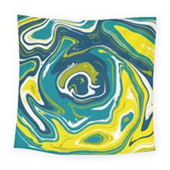 Vector Vivid Marble Pattern 14 Square Tapestry (large)