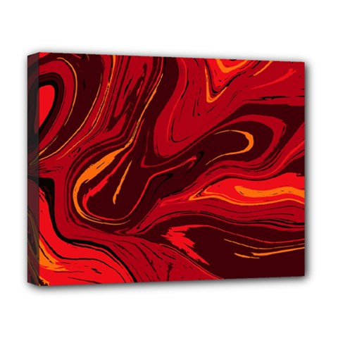 Red Vivid Marble Pattern Deluxe Canvas 20  X 16  (stretched) by goljakoff