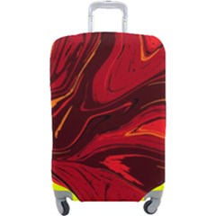 Red Vivid Marble Pattern Luggage Cover (large)