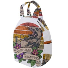 Possum - Mentally Sick Physically Thick Travel Backpacks by Valentinaart