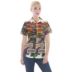 Possum - Mentally Sick Physically Thick Women s Short Sleeve Pocket Shirt
