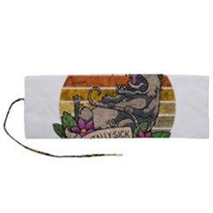 Possum - Mentally Sick Physically Thick Roll Up Canvas Pencil Holder (m) by Valentinaart