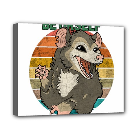 Possum - Be Urself Canvas 10  X 8  (stretched)