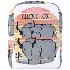 Chinese New Year ¨c Year Of The Ox Full Print Backpack by Valentinaart