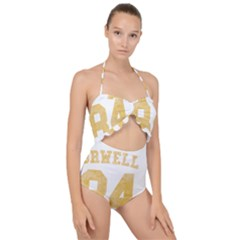 Orwell 84 Scallop Top Cut Out Swimsuit by Valentinaart