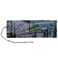 Crowded Urban Scene, Osaka Japan Roll Up Canvas Pencil Holder (m)