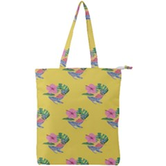 Floral Double Zip Up Tote Bag by Sparkle