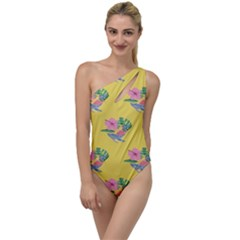 Floral To One Side Swimsuit