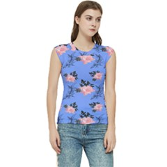 Flowers Pattern Women s Raglan Cap Sleeve Tee by Sparkle