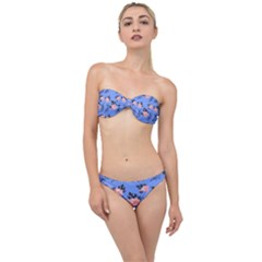Flowers Pattern Classic Bandeau Bikini Set by Sparkle