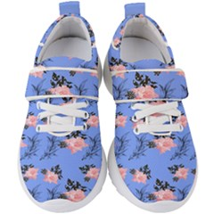 Flowers Pattern Kids  Velcro Strap Shoes