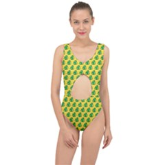 Beautiful Pattern Center Cut Out Swimsuit
